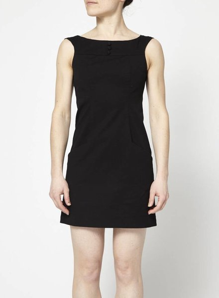 Betina Lou BLACK BOAT NECK DRESS