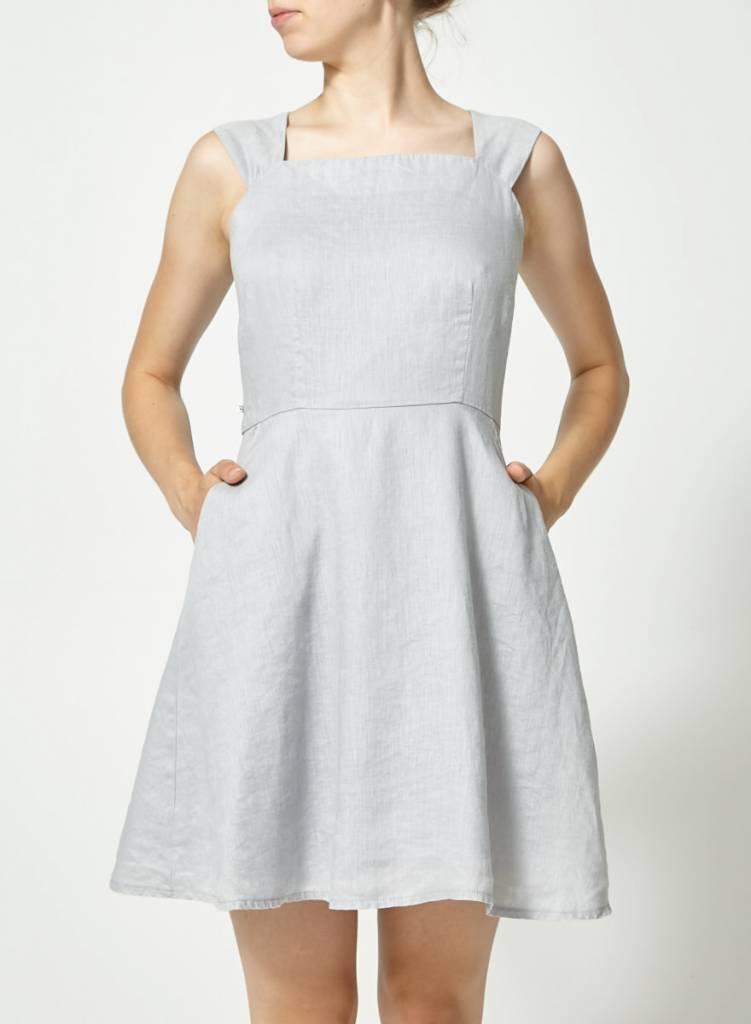 Atelier B Robe gris pâle en lin