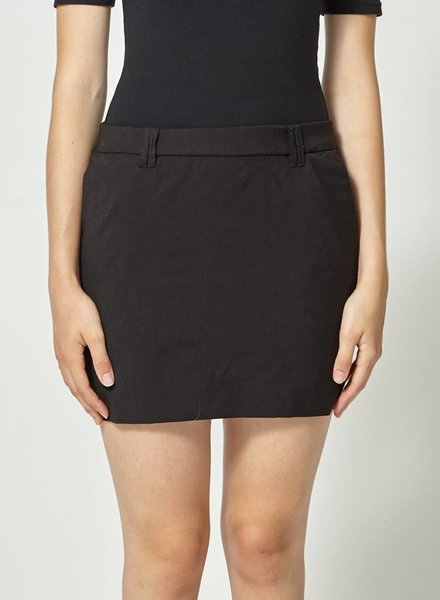 Betina Lou SHORT BLACK WOOL SKIRT