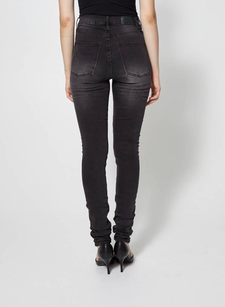 Cheap Monday Jeans skinny noir effet délavé