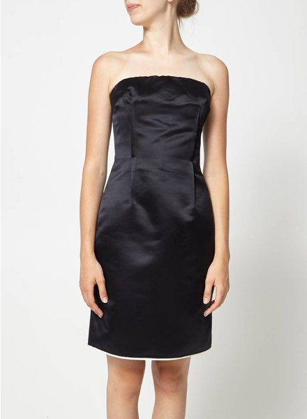 Dolce & Gabbana SATIN BLACK DRESS