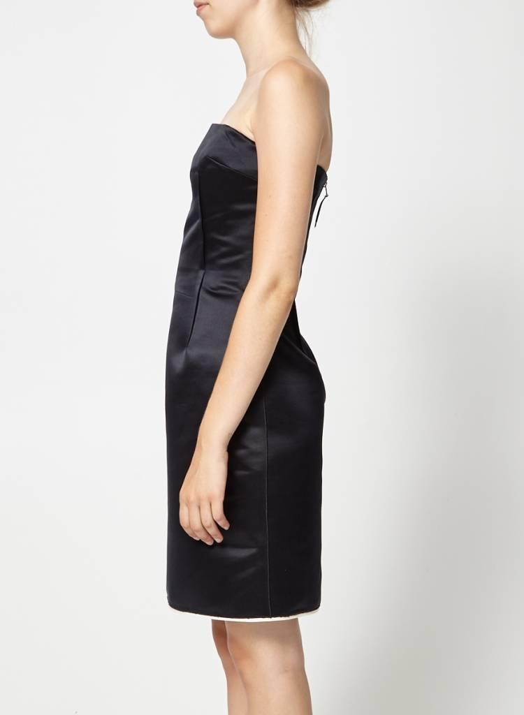 Dolce & Gabbana Solde - Robe bustier satinée noire