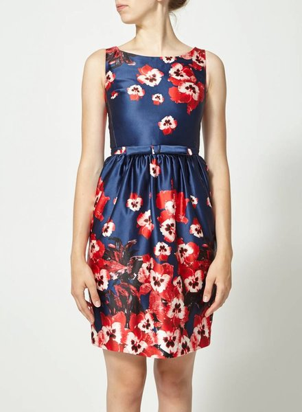 Éditions de Robes FLOWERY NAVY DRESS