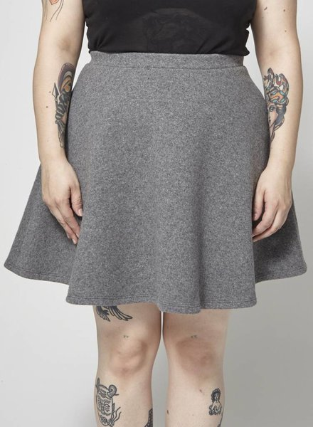 Atelier B GRAY WOOL AND CASHMERE SKIRT - NEW