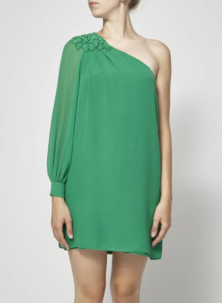 Tibi ON SALE - GREEN SILK DRESS