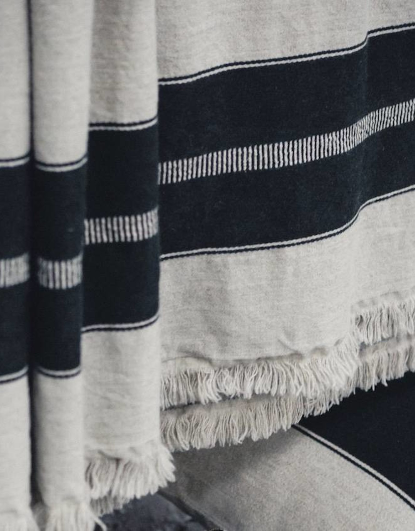 Libeco Home Marshall Throw -Multi Stripe