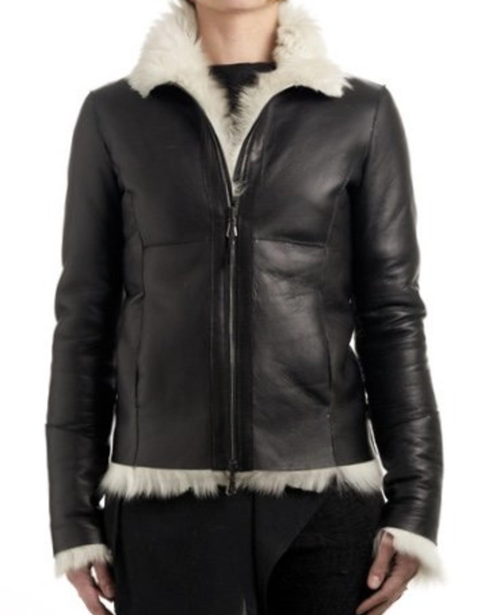 Eros CV - black and white shearling jacket