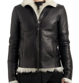 Eros CV - black and white shearling jacket