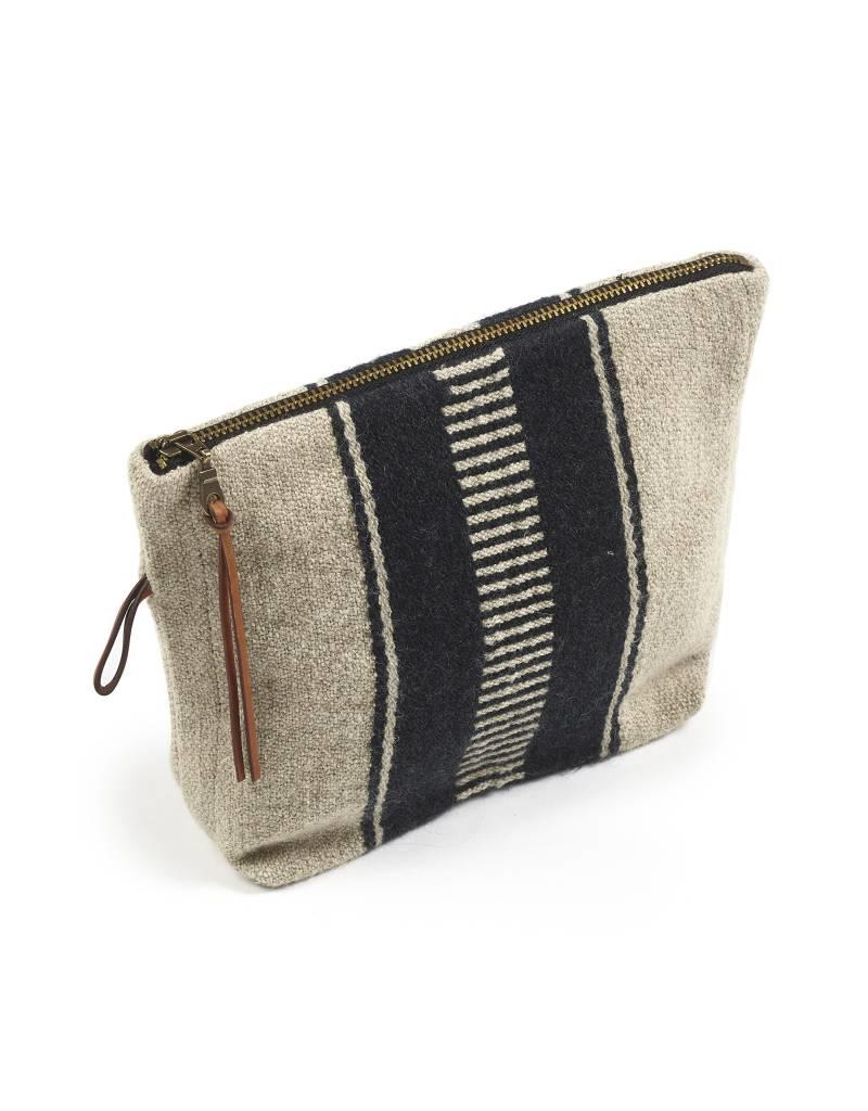 "Libeco Home Marshall Pouch 9""x6"" Multi stripe"