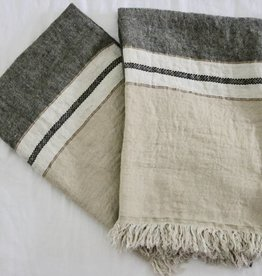 Libeco Home The Belgian Towel - Beeswax stripe