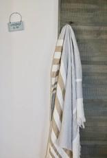 Libeco Home The Belgian Towel - ash stripe