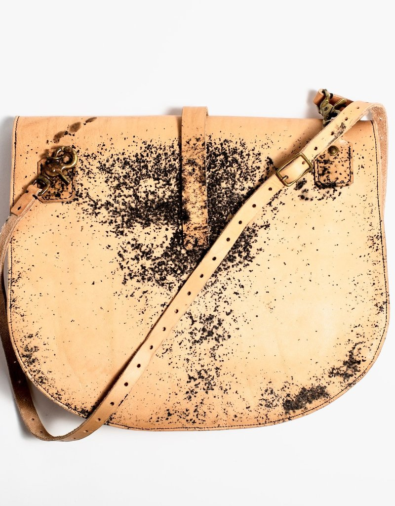 Esde Leather Messenger Bag - Rust