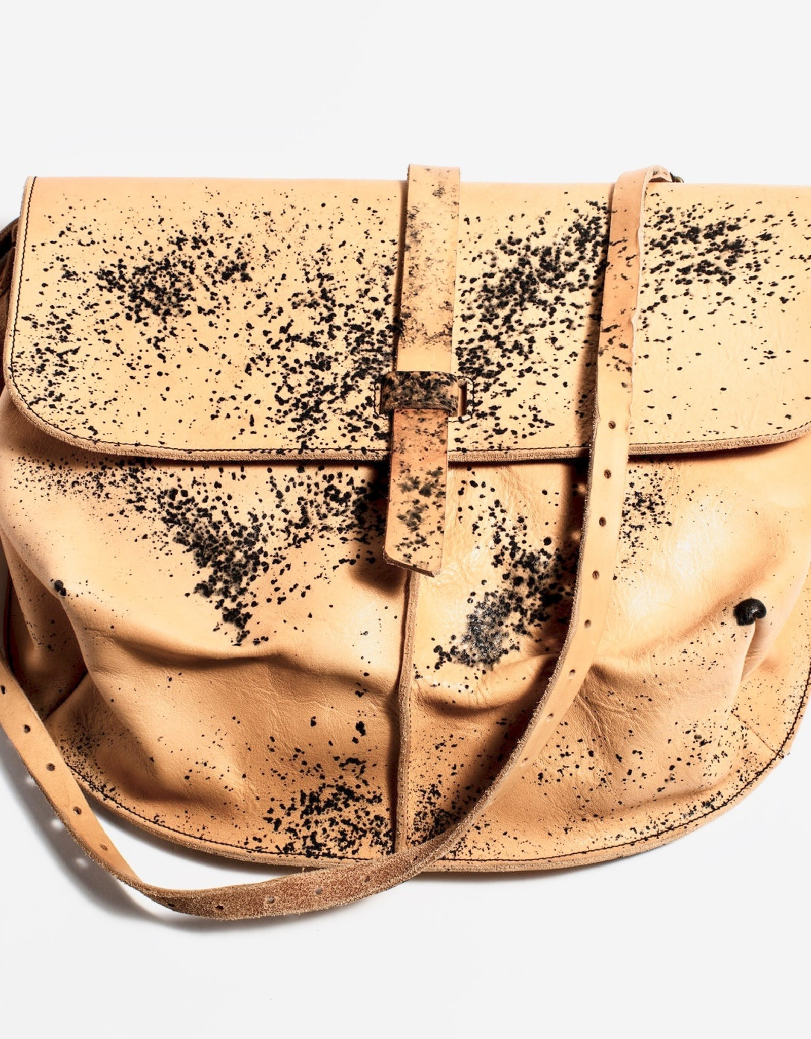 Esde Leather Postman Bag - Rust