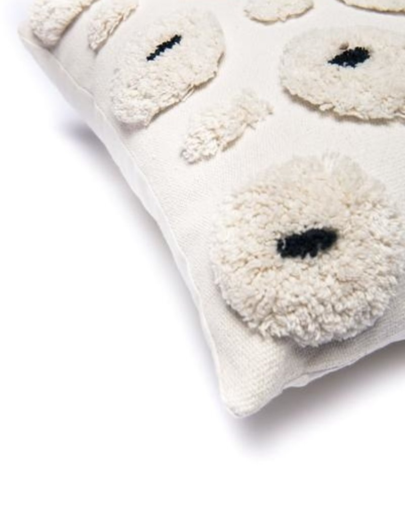 Cotton Pillow - Natural/Black