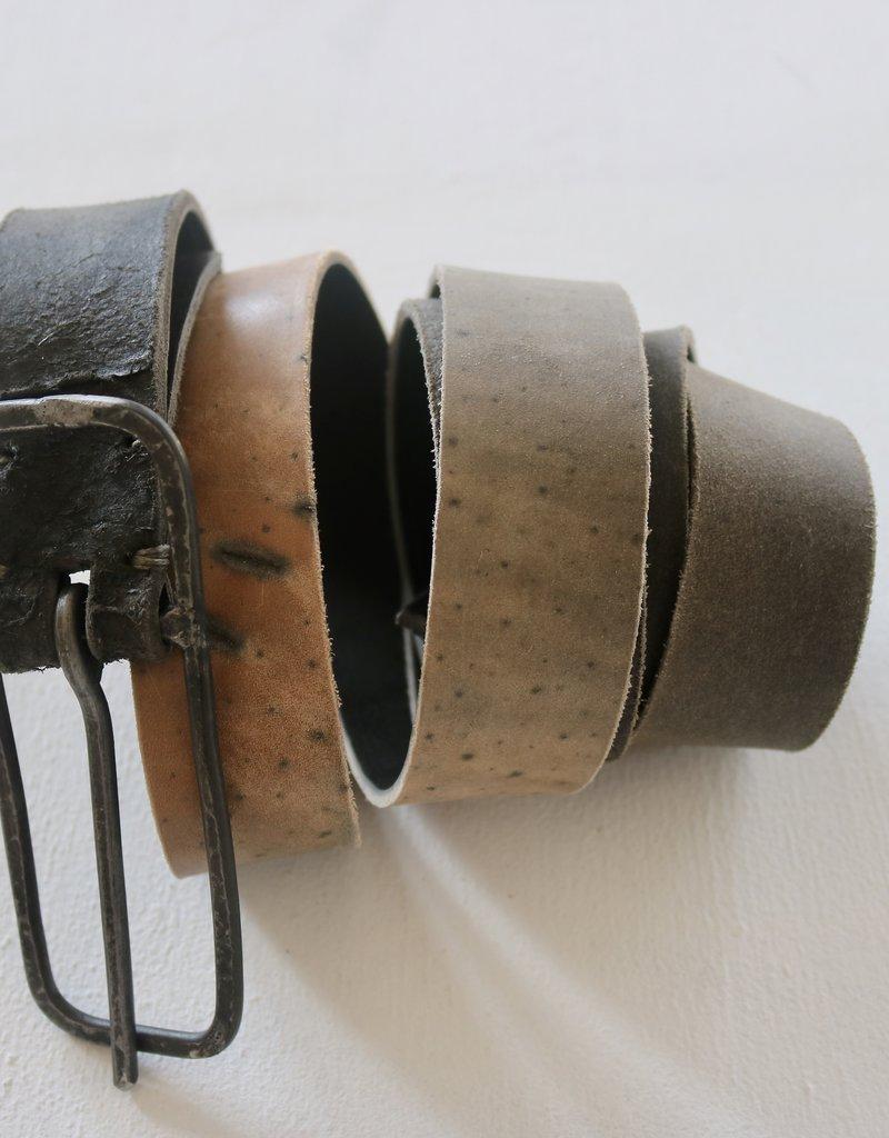 TAGLIO VIVO 10 cm Buckle Belt - Asfalto