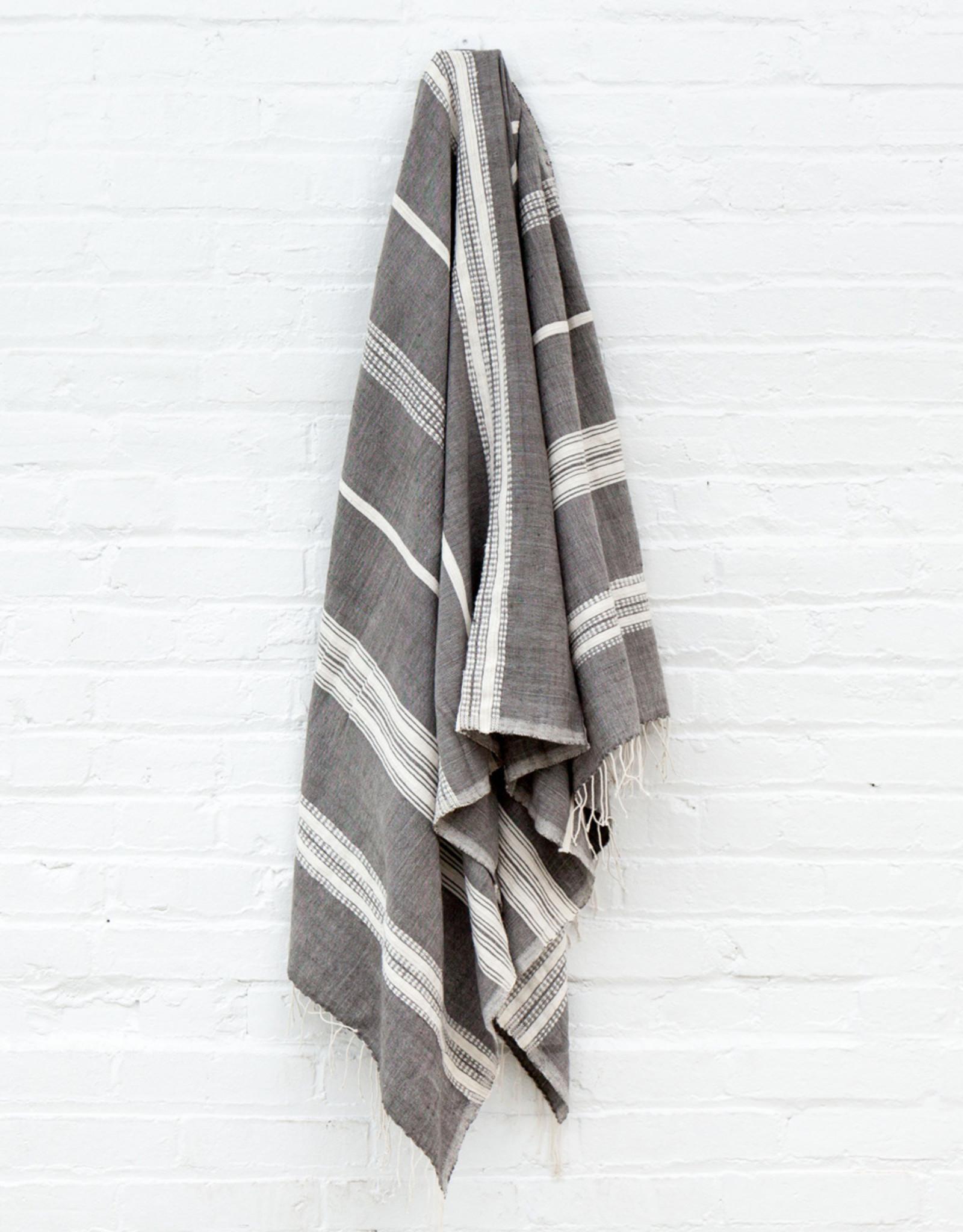 ADEN COTTON BATH TOWEL- Grey