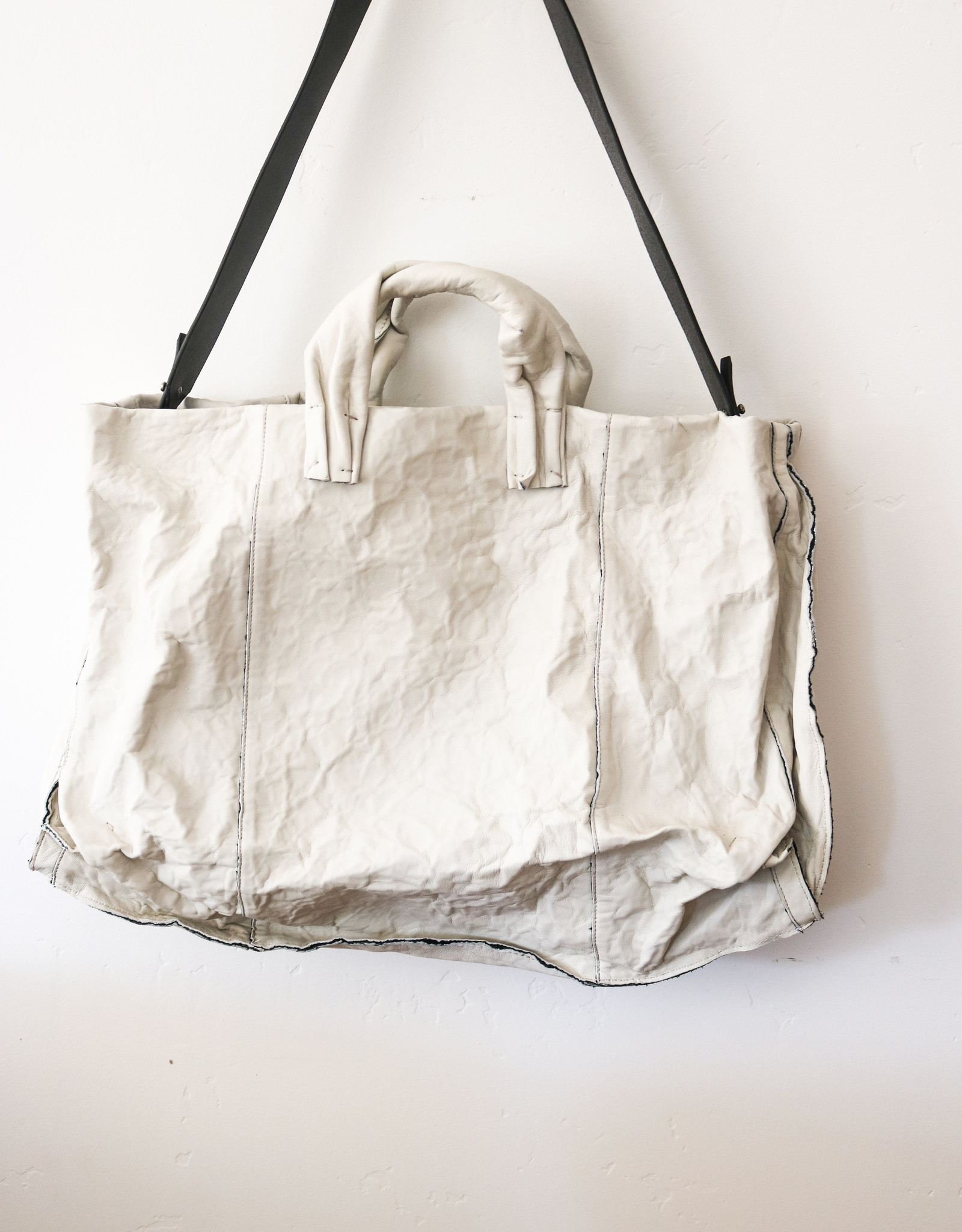 Big Anima Calf Bag - Chalk
