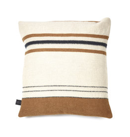 "Foundry Pillow cover 25x25"" Beeswax stripe"