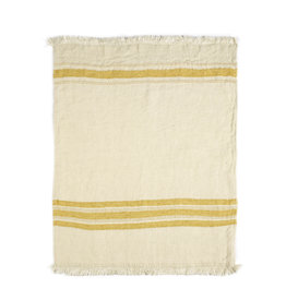 The Belgian Towel Fouta - Mustard stripe