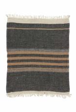 Libeco Home The Belgian Towel Fouta - Black stripe