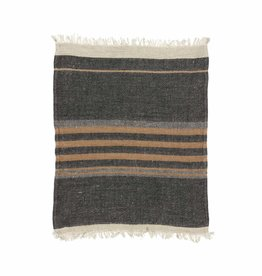 The Belgian Towel Fouta - Black stripe