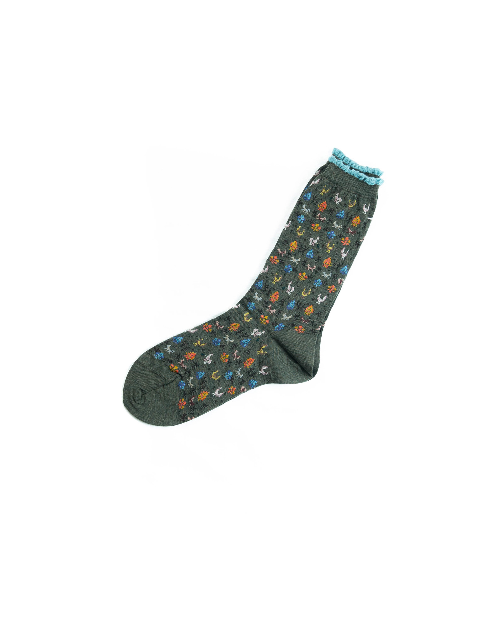 live in forest crew socks - khaki