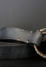 Twin Rings Belt - Dark Grey