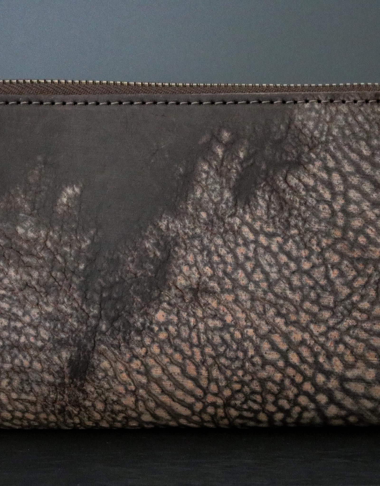 Leather Zip Wallet - Moro