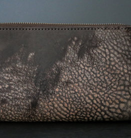 Leather Zip Wallet - Moro