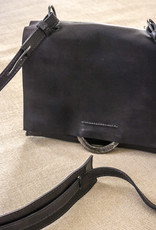 Shoulder Bag Small w/o handle - Black/Blue