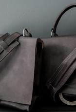 Shoulder Bag Small w/ handle - Black/Blue