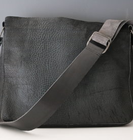 Raw Edge Crossbody Bag - Carbon