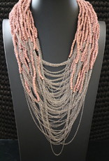 WOOD BEAD NECKLACE - Rosewood