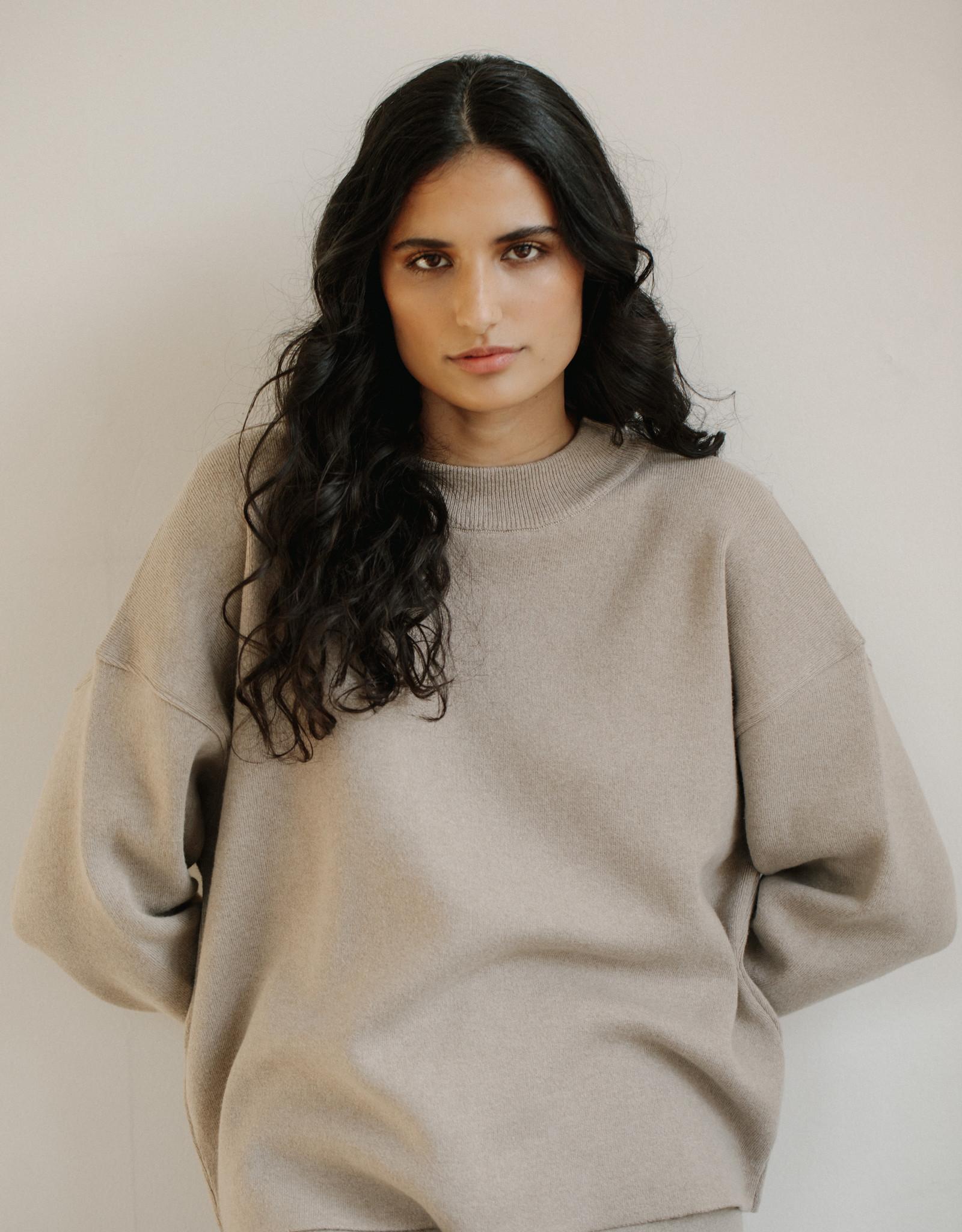 Bare Knitwear xs-s Fawn Lounge Crew
