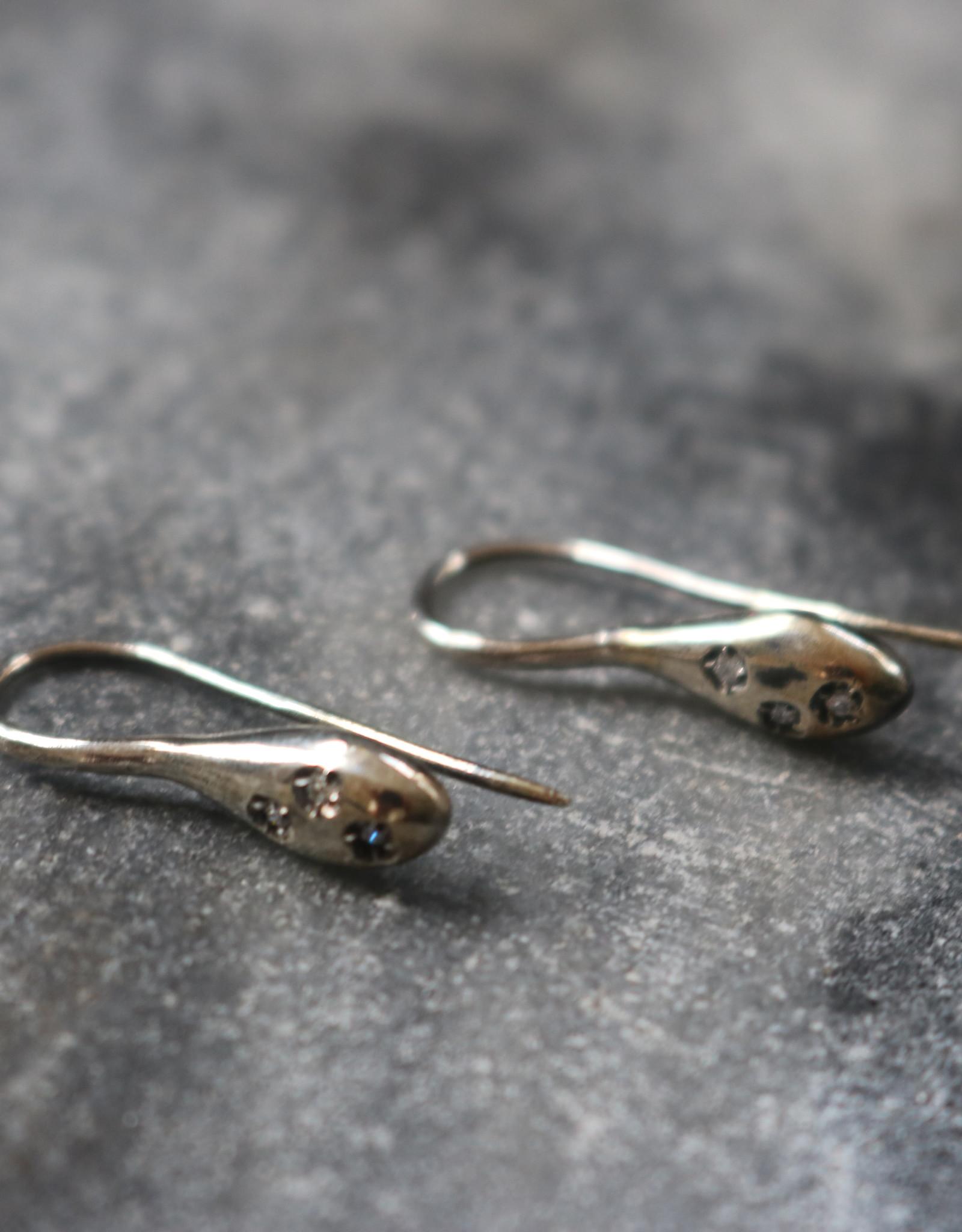 Simona Tagliaferri Silver with White Diamond Earrings