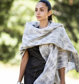 Maddalena Forcella Medium Natural Gray Shawl