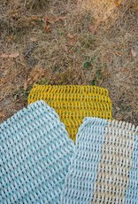 Aqua with Yellow Stripe 18 x 32