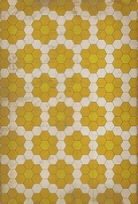The Bees Knees  Vintage Vinyl Floorcloth 20x30