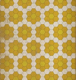 The Bees Knees  Vintage Vinyl Floorcloth