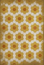 Pushing Up Daisies Vintage Vinyl Floorcloth 20x30