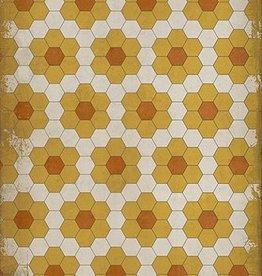Pushing Up Daisies Vintage Vinyl Floorcloth 20x30