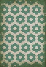 Water Lilies Vintage Floorcloth 20x30