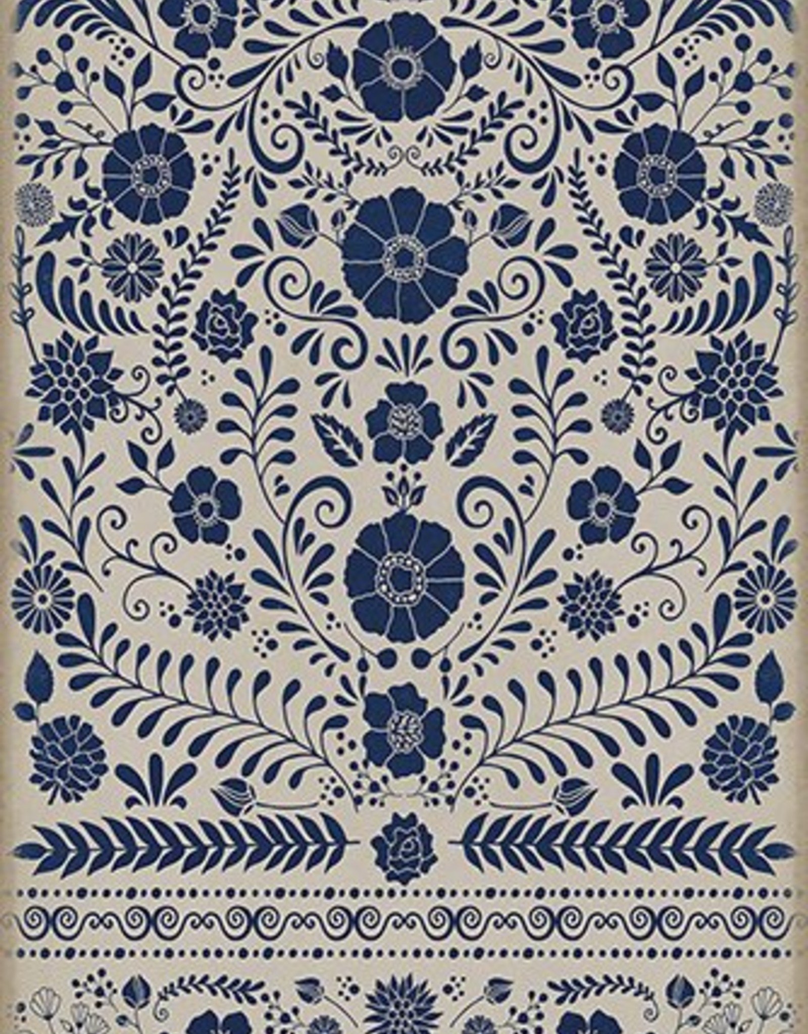 Lidell Vintage Vinyl Floorcloth 52x76