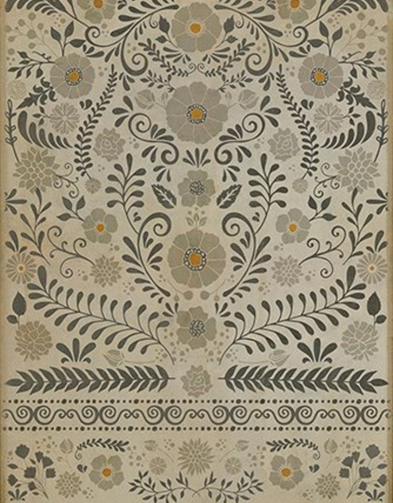 Common Sense Vintage Vinyl Floorcloth 52x76
