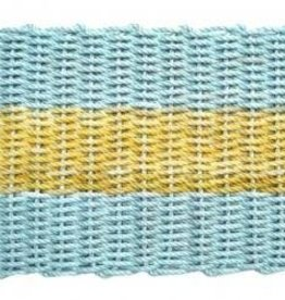 Aqua with Yellow Stripe 18x32