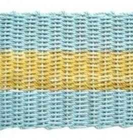 Aqua with Yellow Stripe 18x32