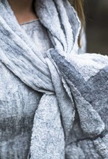 Maddalena Forcella  Gray Merino and Silk Scarf