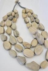 Wave 3 strand necklace