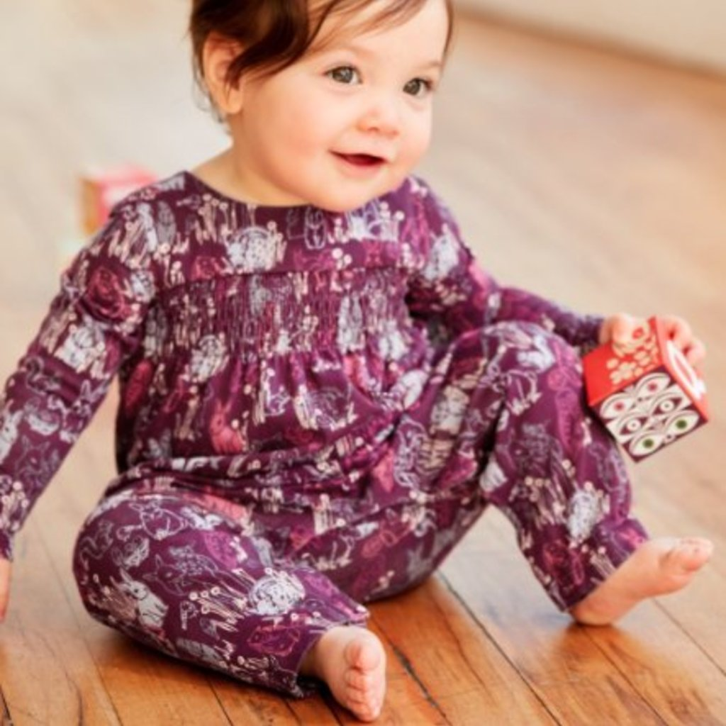 Tea Collection Tea Collection Baby Smocked Romper - Size: 18-24 Months