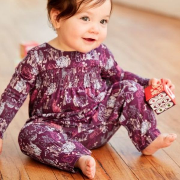 Tea Collection Tea Collection Baby Smocked Romper